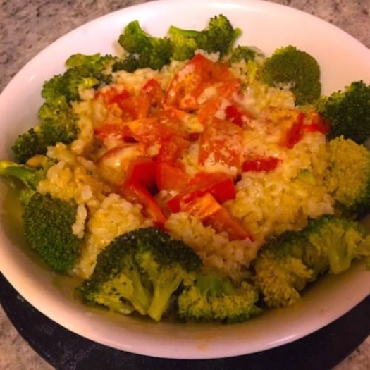 Rice Parmesan Cheese Broccoli Tomatoes2 poppopcooks.com