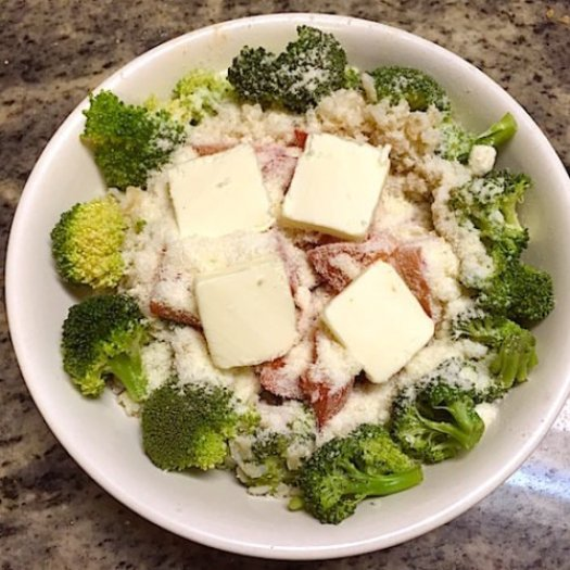 Rice Parmesan cheese, Broccoli Tomatoes1 poppopcooks.com