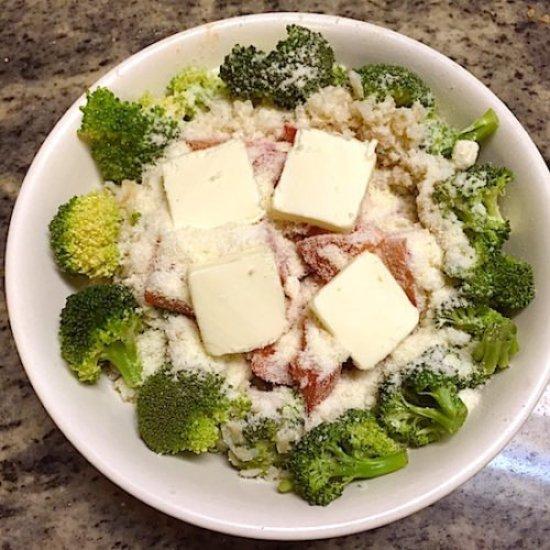 Rice Parmesan cheese, Broccoli Tomatoes1 poppopcooks.com