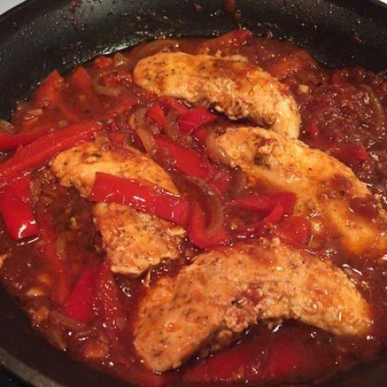 Chicken Peperonata5 poppopcooks.com