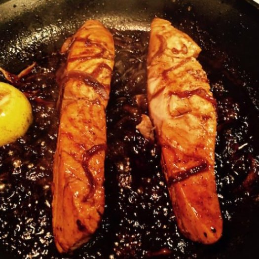 Grilled Salmon with Honey Balsamic Sauce4