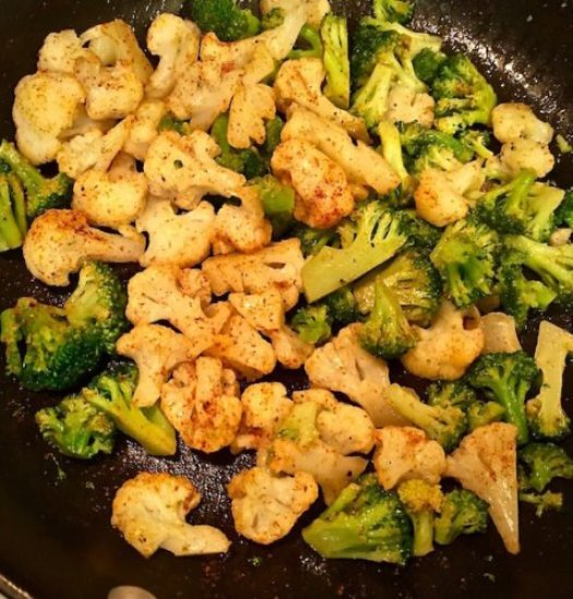 Sautéed Shrimp Cauliflower and Broccoli2 poppopcooks.com