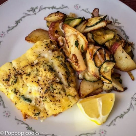 Lemon Zested Baked Cod Fillets-7-poppopcooks.com