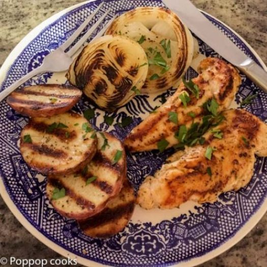 One Pan Grilled Chicken Meal-5-poppopcooks.com
