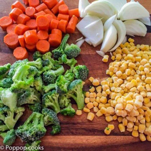 One Pan Chicken Rice Veggies-2-poppopcooks.com