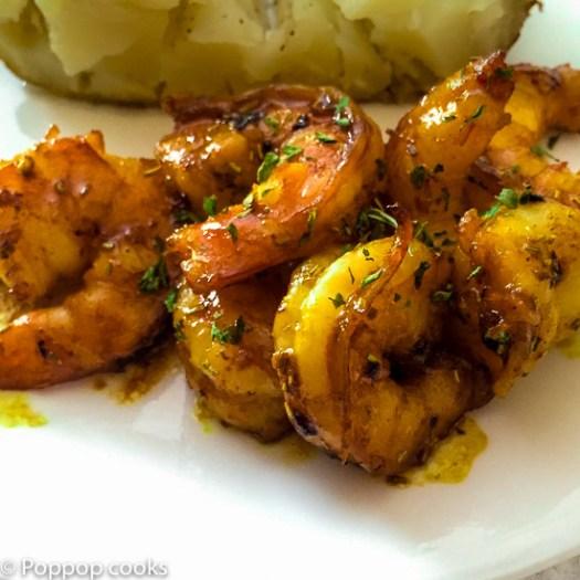 Honey Soy Sauce Shrimp-4-poppopcooks.com