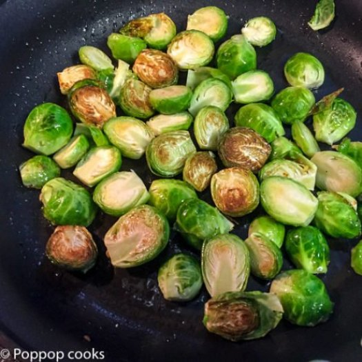 Pan Seared garlicky Brussel Sprouts-2-poppopcooks.com