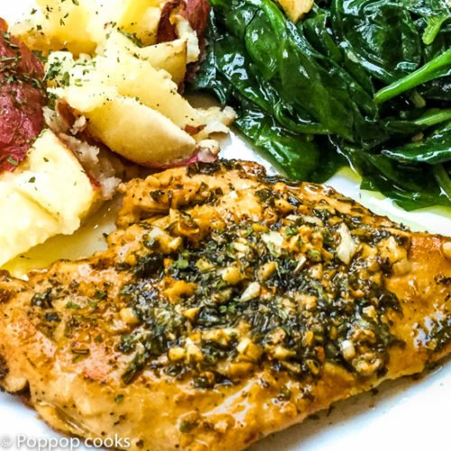 Chicken Filets Sauteed with Basil and Garlic-poppopcooks.com