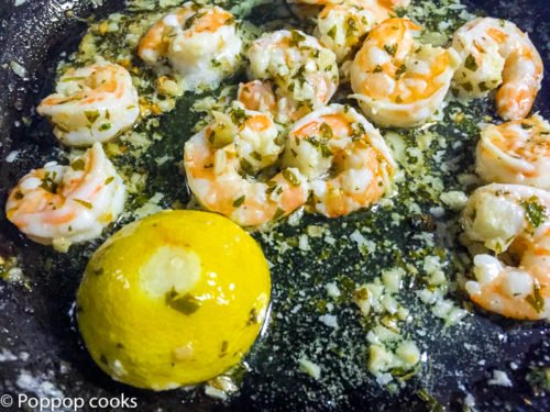 Sauteed Shrimp with Lemon Garlic and Butter-3-poppopcooks.com