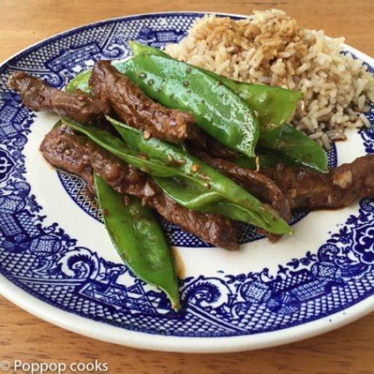 Stir Fried Beef and Snow Peas-6-poppopcooks.com