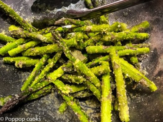 Baked Parmesan Crusted Asparagus-2-poppopcooks.com