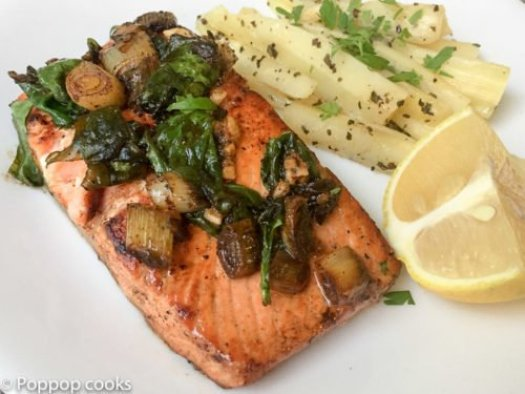 Lemon Butter Salmon-12-poppopcooks.com