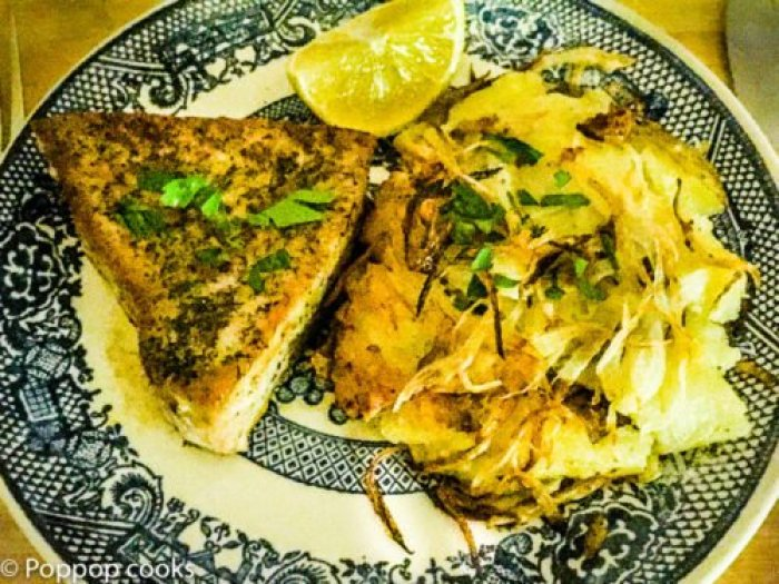 Pan Seared Tuna with Quick Hashbrowns-8-poppopcooks.com