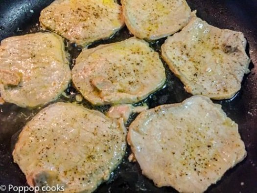 Pork Filets Topped with Apple Slices and Brown Sugar-3-poppopcooks.com