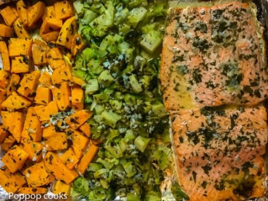 One Pan Salmon Dinner-4-poppopcooks.com-one pot-quick and easy-gluten free