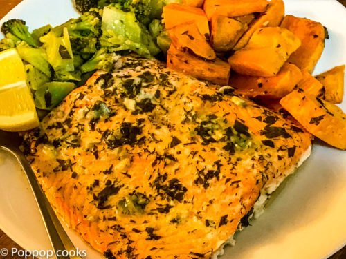One Pan Salmon Dinner-5-poppopcooks.com-Quick and easy-One pan-Gluten free