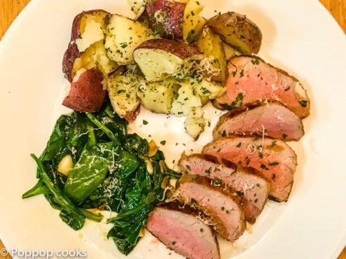 Pork Tenderloin-4-poppopcooks.com-one pan-quick and easy-gluten free