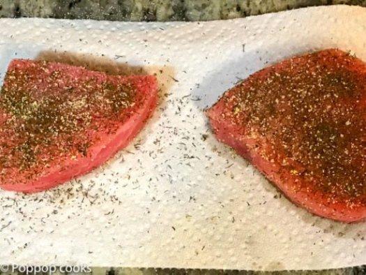 Pan Seared Tuna Steak-4-poppopcooks.com seared tuna-quick and easy-tuna recipes-gluten free recipes
