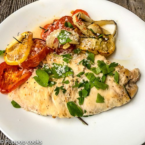 Baked Chicken With Vegetables-7-poppopcooks.com-chicken recipes-easy chicken recipes-chicken breast recipes-easy dinner recipes-baked chicken