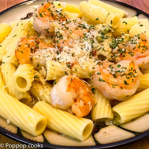 Simple Garlic Shrimp-3-poppopcooks.com-garlic shrimp-easy shrimp recipes-sauteed shrimp-shrimp pasta recipes