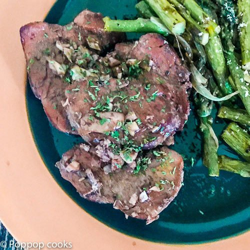 Spicy Garlicky Pork Tenderloin Medallions-7-poppopcooks.com quick and easy