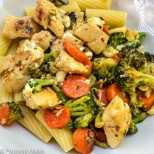 chicken veggies cheese-9-poppopcooks-one pan