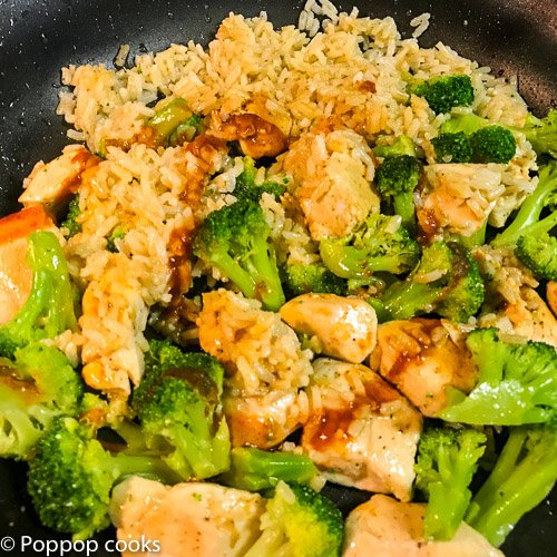 Stir Fried Chicken Broccoli and Rice_-5-poppopcooks.com-quick and easy-chinese-chicken-broccoli-fried rice