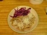 Pasta Godjabunda & Braised Red Cabbage Plate