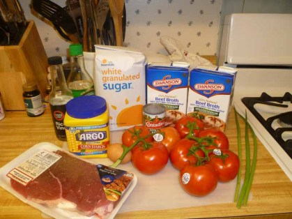 Tomato & Beef Soup Ingredients