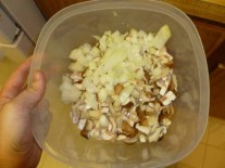 Chopped Mushrooms and Onion