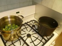 Broccoli Steaming, Pasta Water Boiling