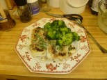 Almond-Crusted Cod & Broccoli Plated