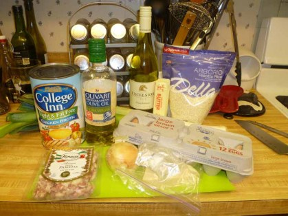 Bacon, Egg & Leek Risotto Ingredients
