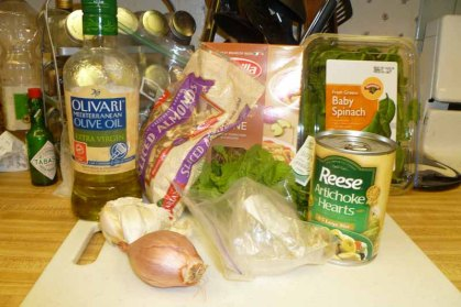 Spinach Artichoke Whole-Wheat Penne Ingredients