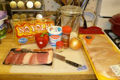 Chicken Paprikash Ingredients