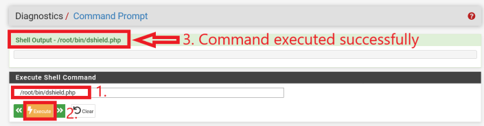 Successful execution of dshield.php