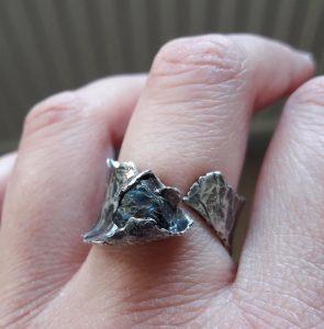 Anita Heket Sapphire Silver Ringg