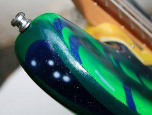 Poppy Porter: custom painted Space Bass detail