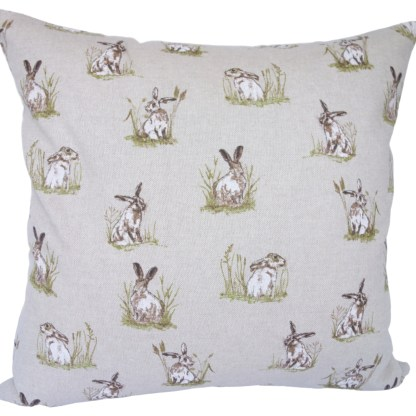 Hares in Grass Scatter Cushion, home decor gift