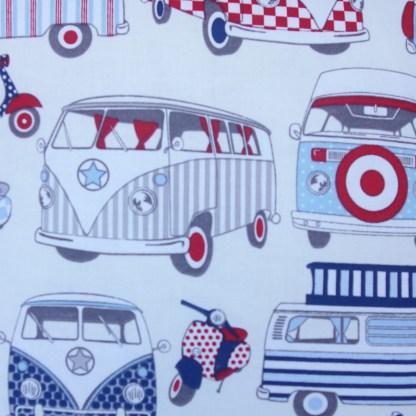Red & Blue Camper Scatter Cushion, home decor gift