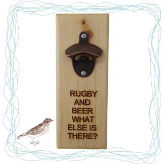 Bottle Opener - Rugby, drinking gift