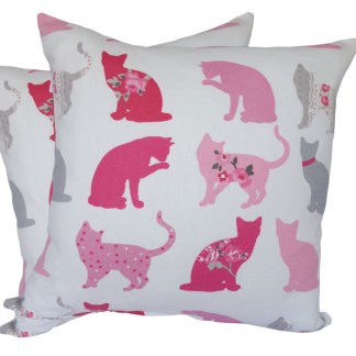 Pink Cats Scatter Cushion