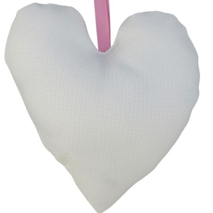 Padded Hanging Heart -Nan & Flowers, embroidered gift