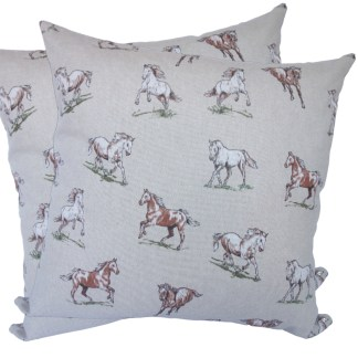 Brown Horses design Scatter Cushion
