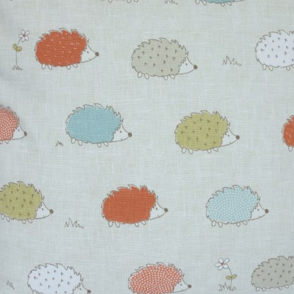 Coloured Hedgehogs design Scatter Cushion, home decor gift