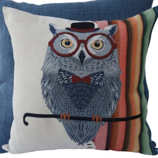 Owl with Hat Feature Cushion