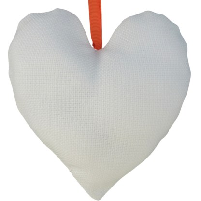 Padded Hanging Heart - Rainbow Hearts, embroidered gift