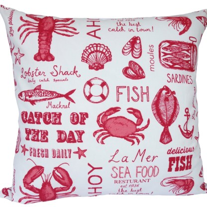 Catch Of The Day design Scatter Cushion, home decor gift