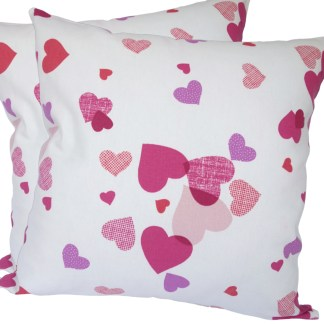 Pink & Purple Hearts design Scatter Cushion