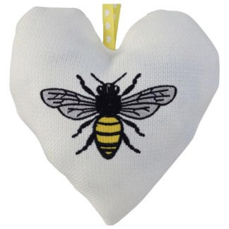 Padded Hanging Heart Bee